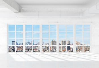 Fototapete - window to city