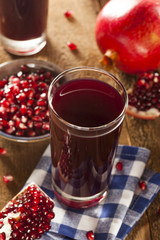 Healthy Organic Pomegranate Juice