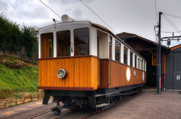 Renon railways historical train HDR