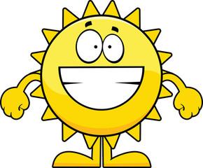 Grinning Cartoon Sun