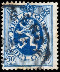 Stamp shows Lion of Belgium