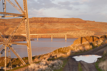 Bridge Over Touchet River Palouse Regoin Eastern Washington Hill