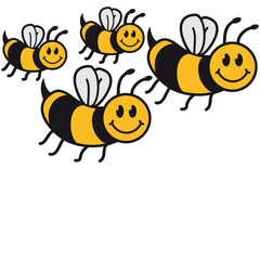 Süße Kleine Bienen Familie