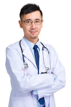 Young asian male doctor