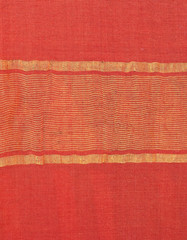indian sari with golden stripes