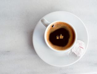 greek turkish coffee like - social media