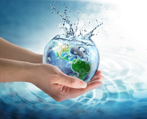 Wall Mural - water conservation in the our planet - Usa