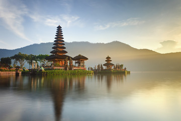 Ulun Danu temple on Bratan lake, Bali, Indonesia