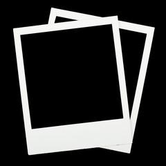 Two blank polaroids