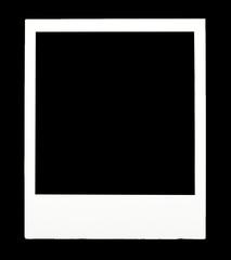 Instant photo on black background