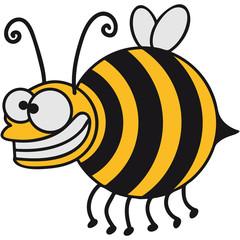 Lustige Dicke Verrückte Biene