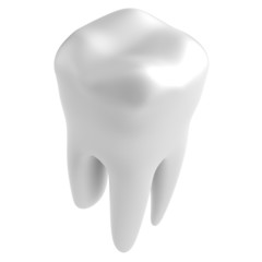 realistic 3d render of tooth
