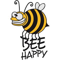 Dicke Verrückte Biene Bee Happy