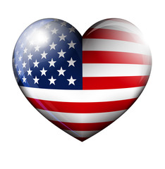 STARS and STRIPES HEART