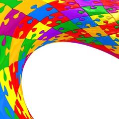 Illustration spherical puzzle