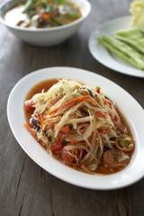thai papaya spicy salad in thailand