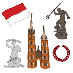 Vector symbols of Poland