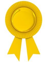 Blank award ribbon rosette.