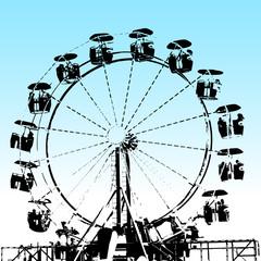 Grunge Ferris Wheel