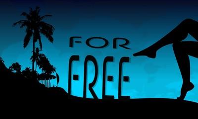 free symbol on a beach