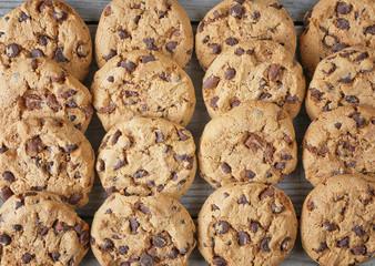 group cookies top view