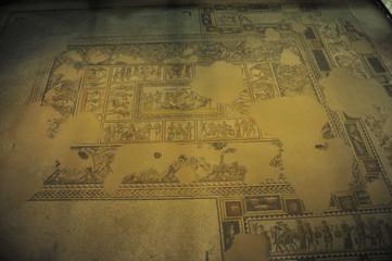Mosaic floor in Tzippori, Israel