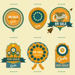 vector labels quality on sale