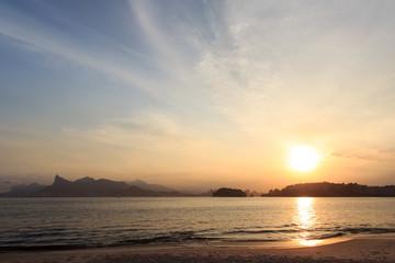 Sunset beach Icaraí Niterói Rio de Janeiro