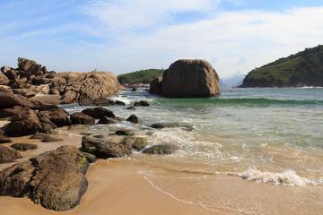 Stones of beach Piratininga Niteroi, Rio de Janeiro