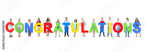 u0026quot people holding word congratulations u0026quot  stock photo and