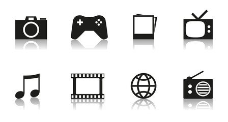 Interesting Multimedia Vector Icons