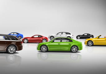 Variety of 3D Car Collection