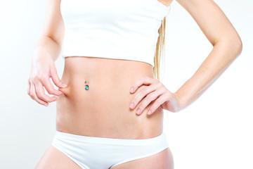 woman's beautiful slim body.