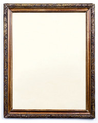 Blank old wooden picture frame