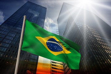 Garden Poster Brazil Composite image of brazil national flag