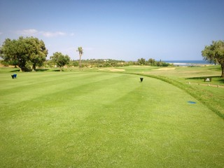 Golfplatz Blick vom Abschlag