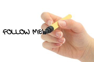 Follow me social media business concept