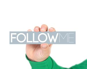 Follow me social media business concept