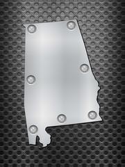Alabama metal map