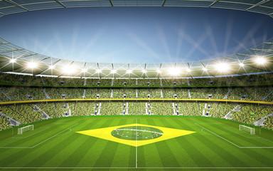Wall Mural - Stadion Brasil Seitenlinie