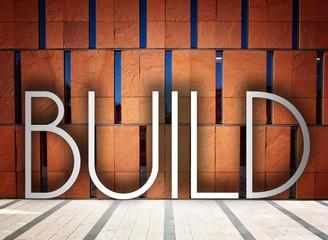 Build on modern building creative illustration