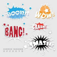 set of vector comic sound effects