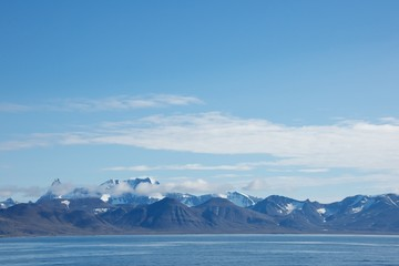 Mountain Range in Hornsund, Svalbard