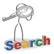 Männchen mit Lupe, search