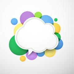 White cloud speech bubble.