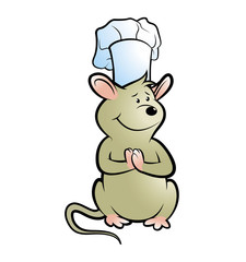 mouse dressed in chef hat