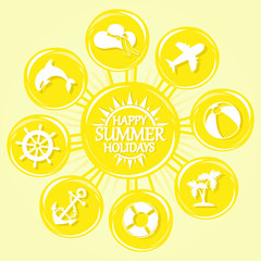 sun and summer icons