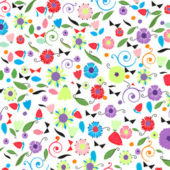 Colorful spring floral background vector