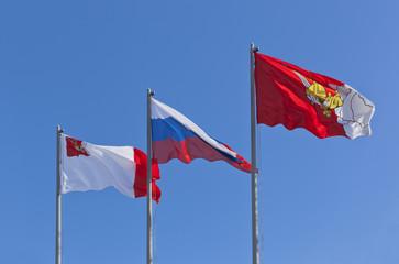 Флаги города Вологды, России и Вологодской области