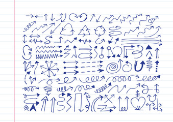 Hand drawn sketch arrow  collection